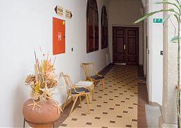 Vstupní dveře do apartmánu U zámku z chodby Vratislavského domu